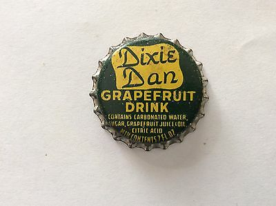 Dixie Dan Grapefruit  Soda   Bottle Cap -     Unused   -  Cork Lined