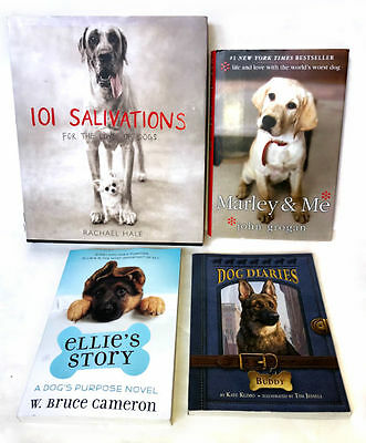 Lot of 4 Books for Dog Lovers Non-Fiction, Hardcover Paperback - Dog's Purpose