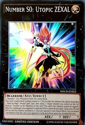 Yugioh! Number S0: Utopic ZEXAL - MACR-ENSE2 - Super Rare - Limited Edition Near