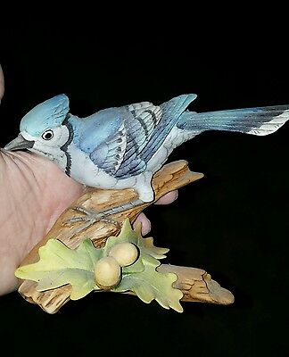 Andrea by Sadek BLUE JAY Bird Figurine #9973 Mint Condition