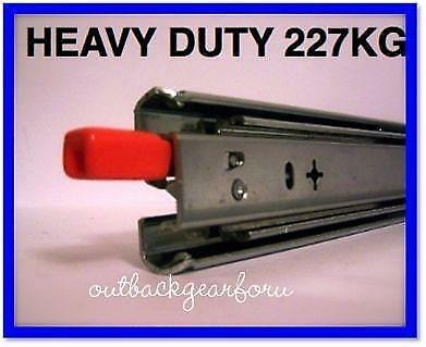 HEAVY DUTY  227kg 4WD DRAWER  SLIDES /  RUNNERS LENGHT 406MM - 1800MM