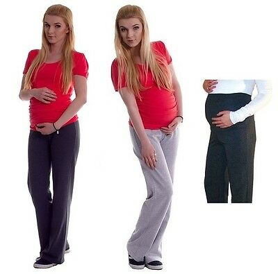 Maternity Pregnancy Tracksuit Bottoms Yoga Trousers Over Bump Joggers Size 8-18