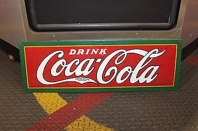 1927 Original Coca Cola Porcelain Vintage Advertising Coke Sign by Robertsons