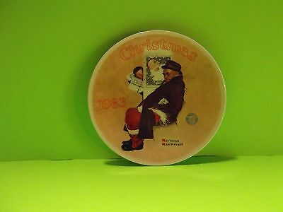 """Norman Rockwell Limited Edition Collector Plate 1983 """"Santa in the Subway"""""""