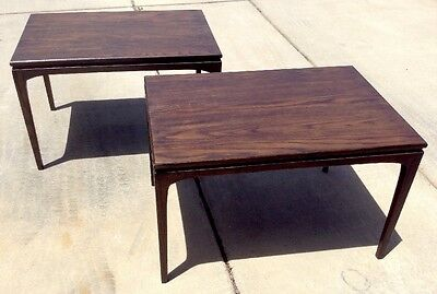 Pair 1967 Prelude Mid Century Walnut End Tables Modern Danish (2) vintage eames