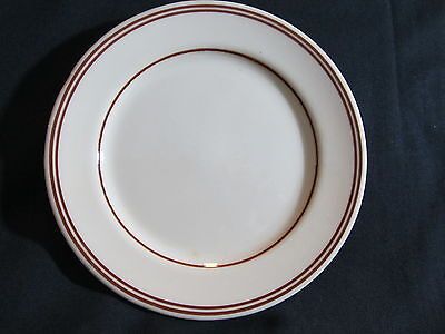 "CARR CHINA Restaurant Ware 6 1/4"" Plate made for A. C. Hoskins, Morgantown, WV"