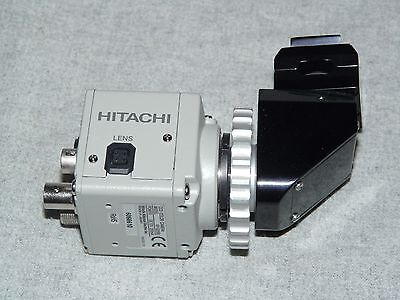 "Hitachi KP-D20BU 1/2"" CCD Color Analog Camera DC12V with Right Angle Lens"