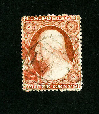 US Stamps # 25 VF Used Type I Scott Value $175.00