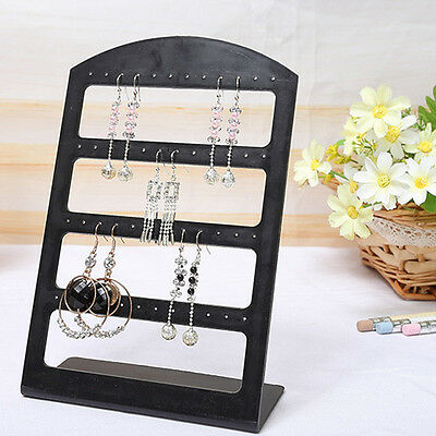 1Pc Earrings Ear Studs Display Rack Stand Jewelry Organizer Holder 24/48 Holes