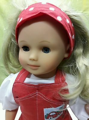 "18"" German Gotz Doll Holly with COA Limited Edition HTF 1991 w/ Christmas orname"