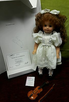 Artist Made Limited Edition Gotz German Baby Doll Angelica Signed COA Violin Bow