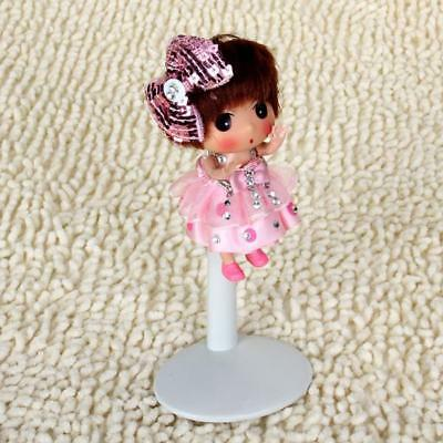 6Pcs White Adjustable Doll/Bear Stands Display Holder for Barbie Doll Accs