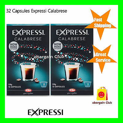 32 Capsules Expressi Coffee Pods Calabrese Twin Pack (2 boxes)   ALDI eBC