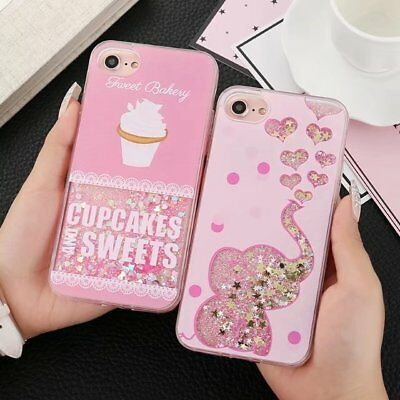Animals Dynamic Liquid Glitter Quicksand Phone Case Cover For iPhone 6/7/8/X