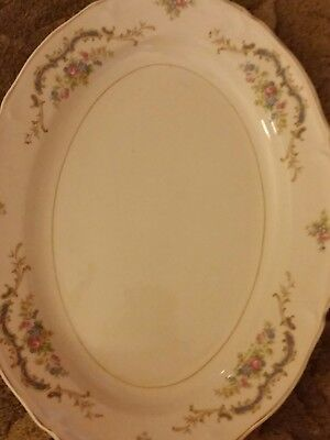 "Vintage Oval Platter, 15"" Edwin Knowles, Princess  Pattern"