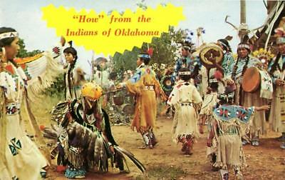 """Oklahoma - """"How"""" from the Indians of Oklahoma - 1970s - Postcard"""