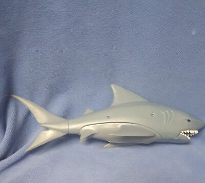large plastic great white shark with moving mouth