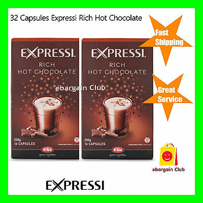 32 Capsules Expressi Coffee Pods Rich Hot Chocolate Twin Pack (2 boxes) ALDI eBC