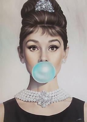 Audrey Hepburn in Breakfast at Tiffany's /Canvas home wall art choose your size