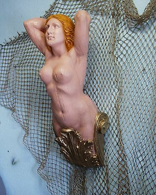 BRITANNIA SHIP'S FIGUREHEAD - NAUTICAL-FOLK  ART  Decor