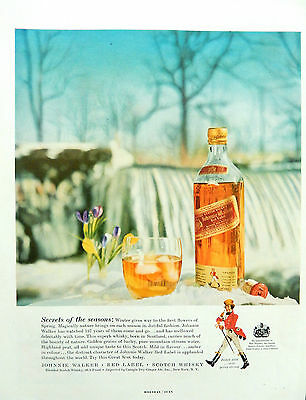 Vintage 1957 Johnnie Walker Red Label Scotch Whisky advertisement print ad