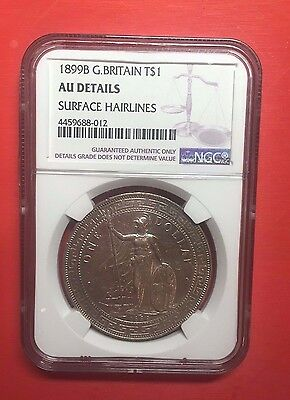 Great Britain, Trade Dollar 1899-B, Silver, NGC AU DETAILS