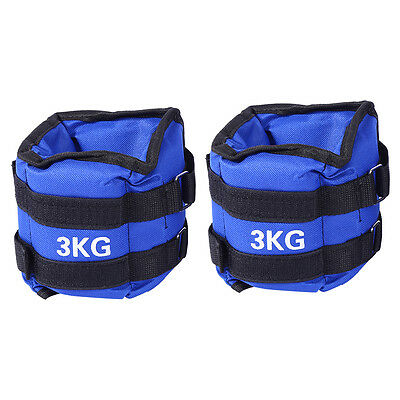 1/2/3/4/5/6 kg 2Pcs ADJUSTABLE ANKLE WEIGHTS GYM EQUIPMENT WRIST FITNESS YOGA AU