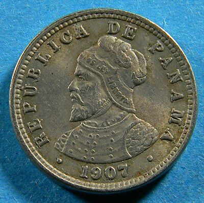 Panama 1907 Medio Centésimo (Coin lot # B-0256) 1 Year type
