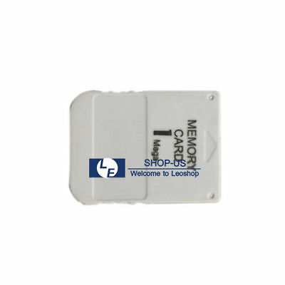 New White 1MB 1M Memory Card for Sony Playstation 1 One PS1 PSX Game System