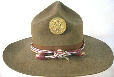 pre-WWI US Army M1911 Montana Peak Campaign Hat - w/Medical Dept Cords 5-Stitch