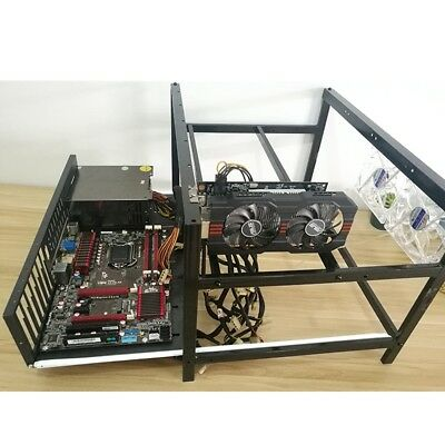 Crypto Coin Open Air Mining Miner Frame Rig Case up to 6 GPU Ethereum ETH BTC