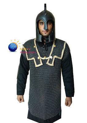 Chainmail HAMATA COSTUMES DRESS 10 MM STEEL BUTTED Medieval Armor SCA XX-LARGE