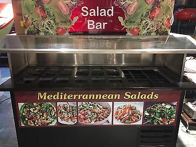 Custom made Salad Bar or Sand which station Marble top,with a sneeze guard