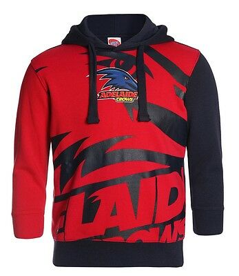 AFL Adelaide Crows Kids Youth Supporter Pullover Hoodie Hoody, sizes 8-14