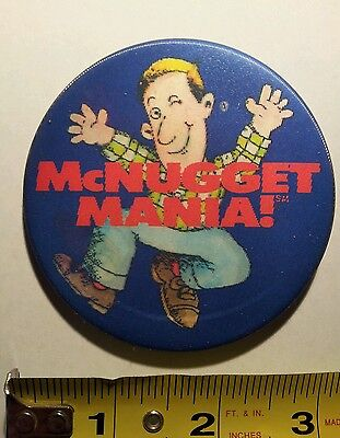 "Vintage ""McNugget Mania!"" 3"" 3D McDonald's Button/Pin"