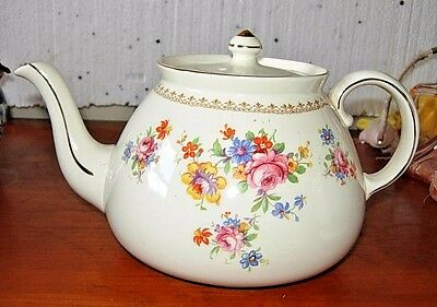 "Gibsons England Teapot Floral Design 125A Large 9.5"" LT"