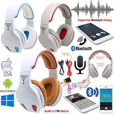 Foldable Wireless Bluetooth 4.1 Headset Stereo Super Bass Music Headphone W/ Mic