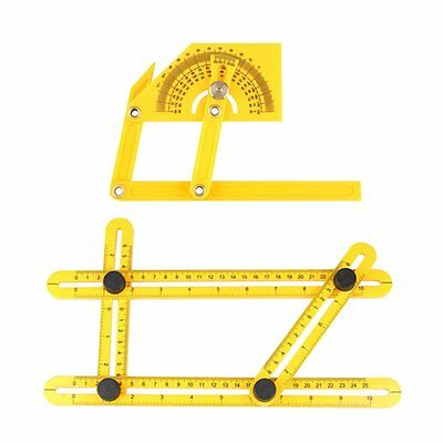 Angle-izer Template Tool Plastic Protractor Angle Finder with Articulating Arms
