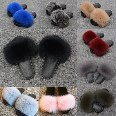 New Fur Sliders Flat Women Slippers Indoor Outdoor Comfortable Shoes Fashion