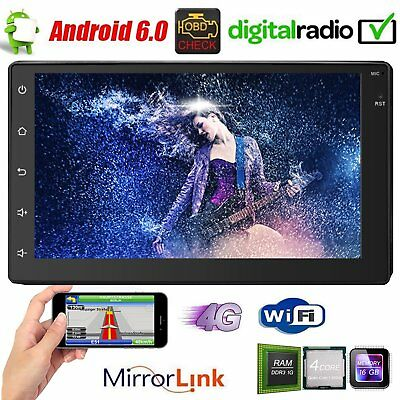 """Double 2 Din 7"""" Android 6.0 Car Radio Stereo GPS Navigation Bluetooth WiFi 3G 4G"""