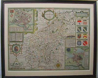 Northamptonshire: antique map by John Speed, 1611 (1st edition)