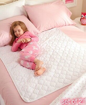 Waterproof Bed Pads For Kids Adults Mattress Protection Cover Washable Pad 2 Pcs