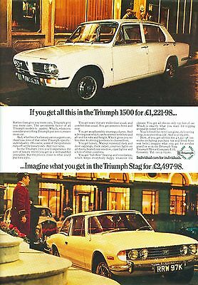1972 Triumph 1500 Colour Magazine Advert