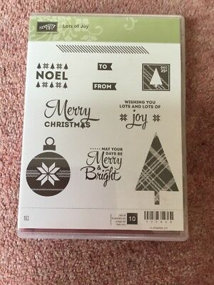 Stampin Up Clear Stamp Set Lots Of Joy