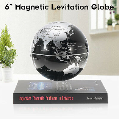 6'' Levitation Magnetic Rotate Globe Floating Levitating Earth + BookBase GIFT