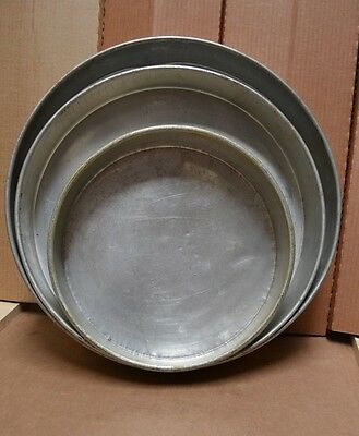 "Cake Pans Heavy Duty 18 GA Set of 14"", 18"", 20"""