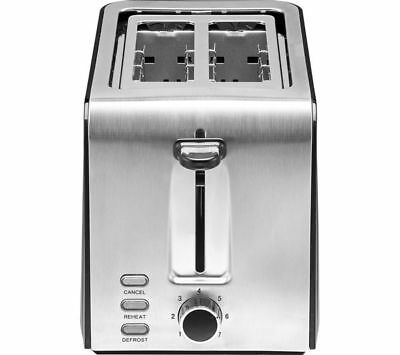LOGIK L02TSS17 2-Slice Toaster Black & Stainless Steel
