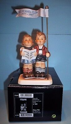 Hummel Figurine Celebrate With Song New In Box #790 Tmk 7 Club Exclusive - Mint