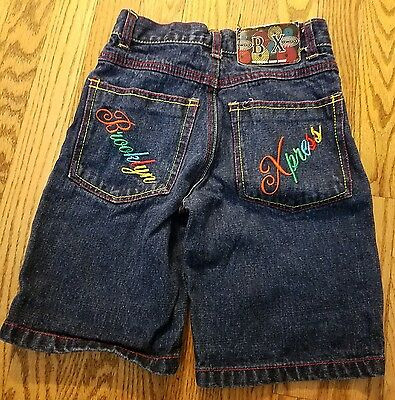 Brooklyn Xpress boys multi-colored embroidered shorts, size 5