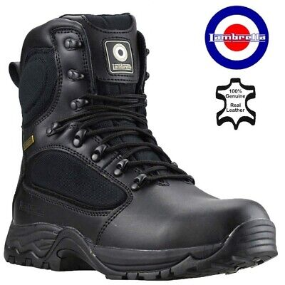 Mens Lightweight Steel Toe Cap Work Military Combat Safety Boots Police Shoes Sz